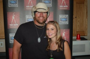 Cali with Toby Keith