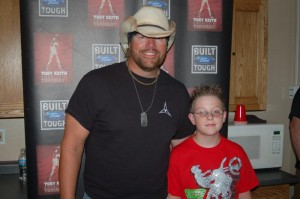 Jeremy with Toby Keith